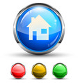 home glossy button vector image vector image