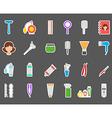 Barbershop stickers set vector image