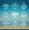 beach labels set on blue vector image