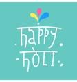 Beautiful Indian festival Happy Holi vector image
