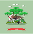dog mobility aid in flat style vector image