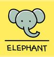 elephant hand-drawn style vector image