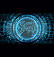 future technology cyber concept background asia vector image