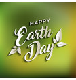 happy earth day quote for world environment care vector image