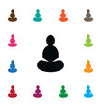 isolated asana icon yoga element can be vector image