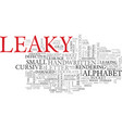 leaky word cloud concept vector image