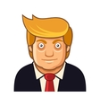 Republican President Cartoon Style Icon on White vector image