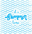 summer time poster web banner vector image