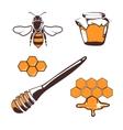 Beekeeper bee honey design elements vector image