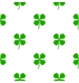 Green Clover Seamless Pattern vector image