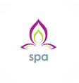 spa lotus flower logo vector image