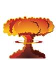 Nuclear explosion mushroom cloud vector image