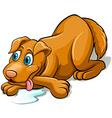 Tired dog panting vector image