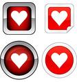 Love button set vector image