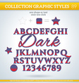 Dark Graphic Styles for Design use for decor text vector image