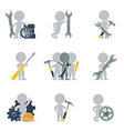 Flat people mechanics vector image vector image