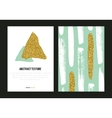 Set of trendy posters with gold glitter texture vector image vector image