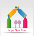 Colorful happy new year card vector image vector image