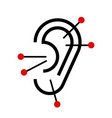 Ear acupuncture vector image