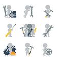 Flat people mechanics vector image