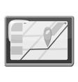 GPS map icon gray monochrome style vector image