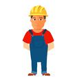 Happy cartoon repairman or construction worker vector image