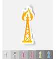 realistic design element oil derrick vector image