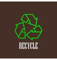 vintage with a recycle symbol vector image