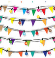 Seamless string of Christmas lights isolated on vector image vector image
