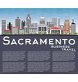 Sacramento Skyline with Gray Buildings vector image