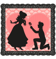 romantic gesture vector image vector image