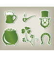 Set of icon of Sant Patricks Day vector image