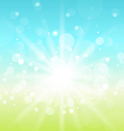 Easter nature background with lens flare vector image vector image