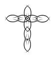 Ornate Christian Cross vector image
