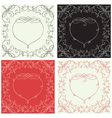 Heart borders vector image