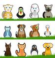 pet animals vector image vector image