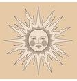 heraldic sun small vector image