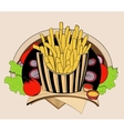 fried fries vector image