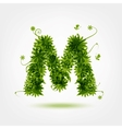 Green eco letter M for your design vector image