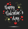 happy valentines day and hearts vector image