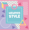 memphis style pattern banner geometric abstract vector image