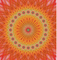 Orange abstract star mandala fractal background vector image