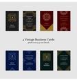 Vintage Business Cards vector image