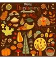 Thanksgiving design elements vector image vector image