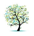 Spring tree for your design vector image