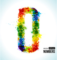 Color paint splashes Gradient Number 0 vector image