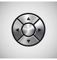 Abstract Joystick Button with Metal Texture vector image vector image