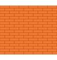 Abstract seamless orange flat brick wall vector image