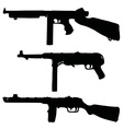 Old automatic guns vector image
