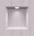 Wooden niche for presentation vector image vector image